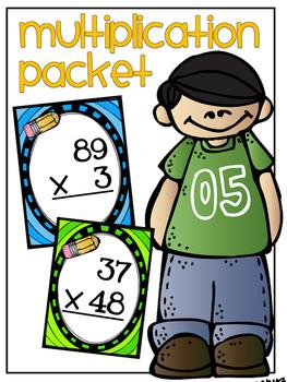 Multiplication Task Cards and Worksheets