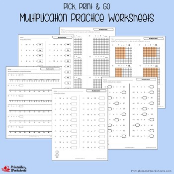 Multiplication Packet and Worksheets with Answer Keys