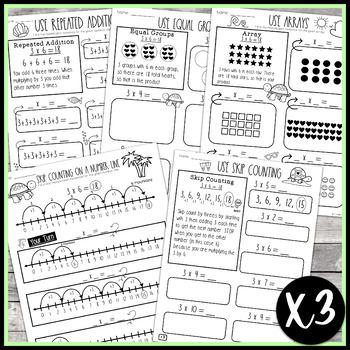 Multiplication Packet times 3 - Strategies, Practice, & Fun