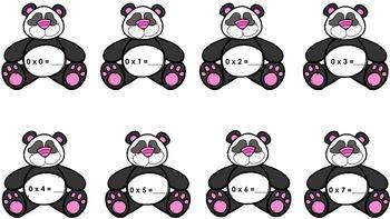 Multiplication Panda Flashcards