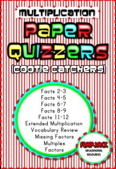 Multiplication Paper Quizzers (Cootie Catchers)