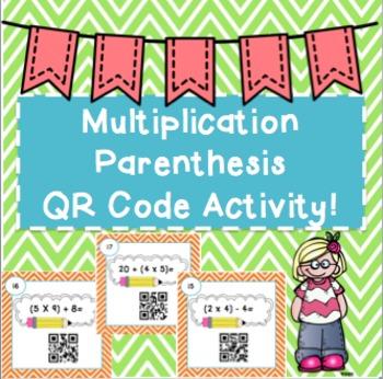 Multiplication & Parenthesis QR Code Activity!