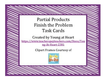 Multiplication - Partial Product Task Cards