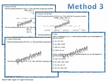 Multiplication: Partial Products