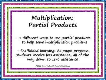 Multiplication: Partial Products 4.4D