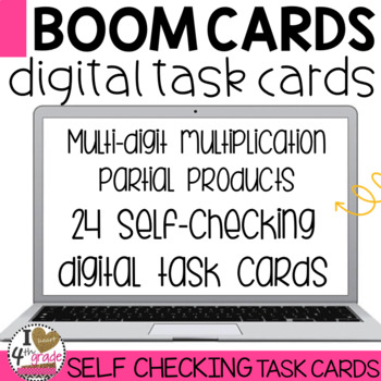 Multiplication Partial Products Boom Cards