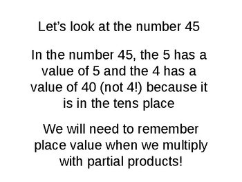 "Multiplication ""Partial Products"" PowerPoint"