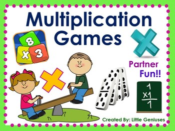 Multiplication Partner Games are Hands-On Fun
