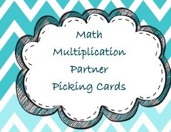 Multiplication Partner Picking Cards