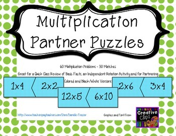 Multiplication Partner Puzzles