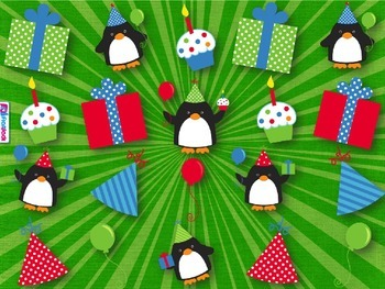 Multiplication Party Penguins SPANISH PowerPoint Game