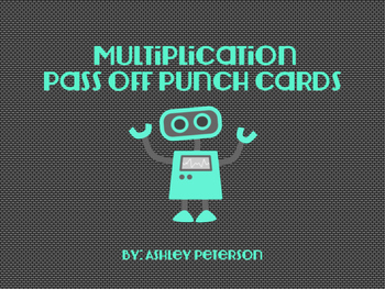 Multiplication Pass Off Cards