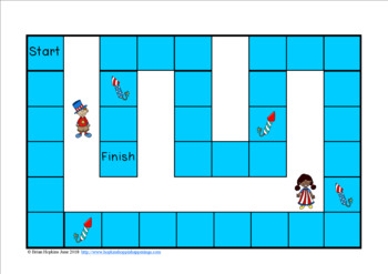 4th of July Multiplication Race