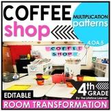 4th Grade Multiplication Patterns  | Coffee Shop Classroom Transformation