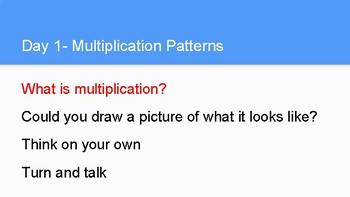 Multiplication Patterns-  Grade 4-  11 Lessons