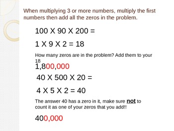 Multiplication Patterns Instructional PowerPoint