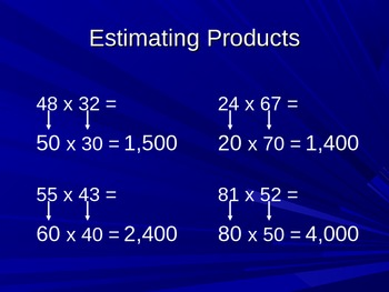 Multiplication Patterns and Estimation