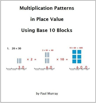 Multiplication Patterns in Place Value Using Base 10 Blocks
