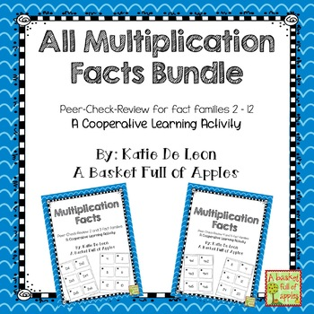 Multiplication Peer-Check-Review Cooperative Learning Bundle