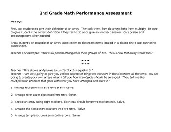 Multiplication Performance Assessment
