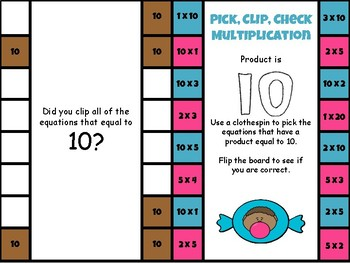 Multiplication - Pick, Clip, Check & Pop the Product