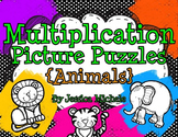 Multiplication Picture Puzzles {Animals}
