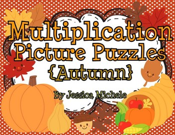 Multiplication Picture Puzzles {Autumn}
