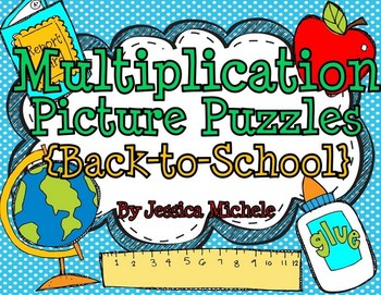 Multiplication Picture Puzzles {Back-to-School}
