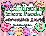 Multiplication Picture Puzzles {Conversation Hearts}