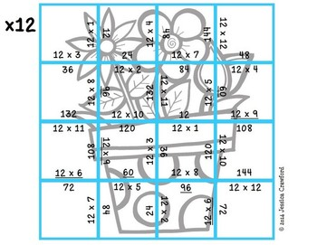 Multiplication Picture Puzzles {Springtime}