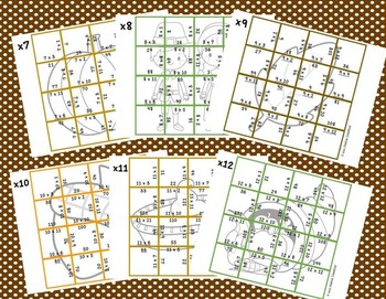 Multiplication Picture Puzzles {Thanksgiving}