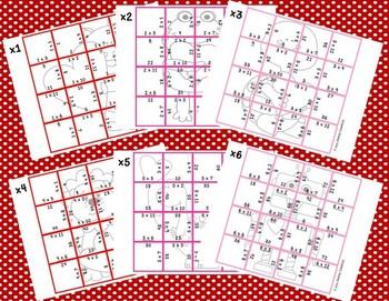 Multiplication Picture Puzzles {Valentine Animals}