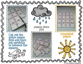 Multiplication Picture Puzzles {Weather}