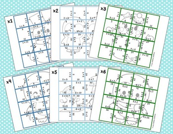 Multiplication Picture Puzzles {Winter}
