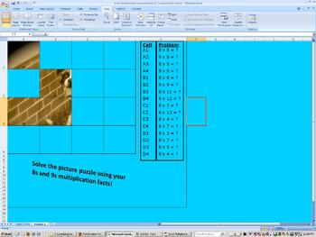 Multiplication Picture Puzzles in Excel