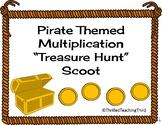 Multiplication Pirate Treasure Hunt Task Cards