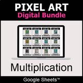 Multiplication - Pixel Art Digital Bundle   Google Sheets