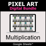Multiplication - Pixel Art Digital Bundle | Google Sheets