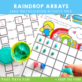 Multiplication Play Dough Mats - Raindrop Arrays