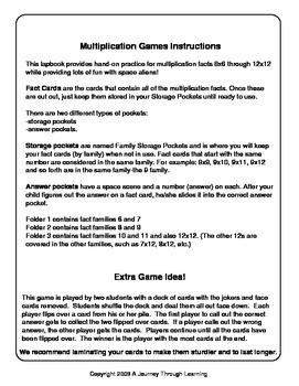 Multiplication Pocket Games