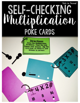 Multiplication Poke Cards Self-Checking Flash Cards