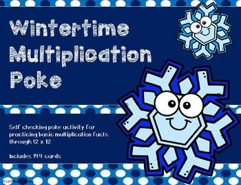 Multiplication Poke {Wintertime Theme}