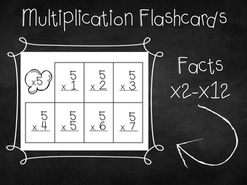 One Minute Multiplication Timed Tests and Flashcards
