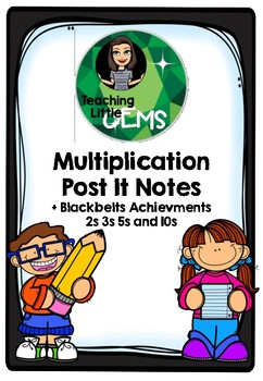 Multiplication Post It Notes and Black Belts