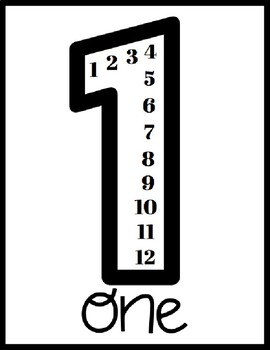 Multiplication Posters (Black and White) with Spanish