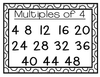 Multiplication Posters: Skip Counting Posters: Full-Size Color & Blackline