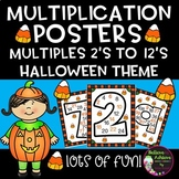 Multiplication Posters with Multiples 2's to 12's (Halloween Theme)