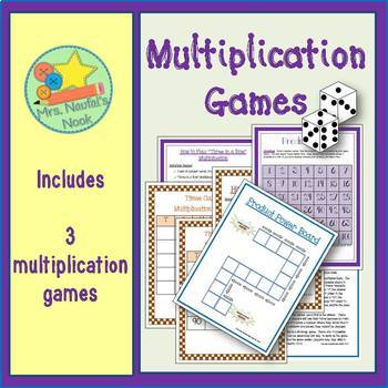 Multiplication Games - Using Numbers 1 to 10