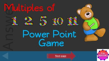 Multiplication Power Point Game