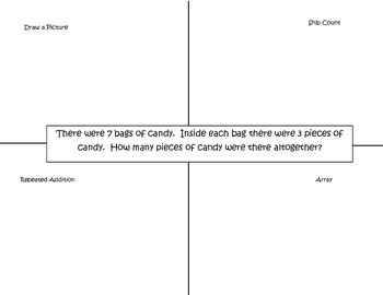 Multiplication Power Point and Worksheet